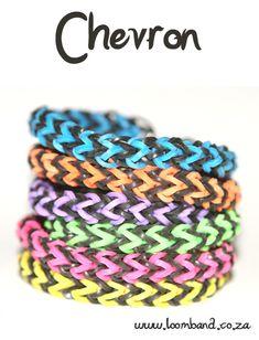 chevron loom band bracelet tutorial - Machines et élastiques : http://www.creactivites.com/268-elastiques-loom