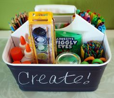 An Organized Cleaning Caddy! Use cleaning caddy as a art supp;y organizer Back To School Organization, Craft Organization, Craft Storage, Organizing Ideas, Storage Caddy, Classroom Organization, Storage Ideas, Kids Crafts, Arts And Crafts