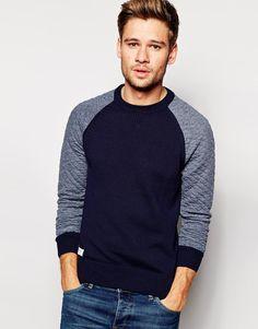www.woolfetish.com love the baseball sweater #men's #sweaters #baseball