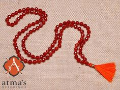 This fiery orange stone is thought to nourish the sexual organs and enhance overall sexual health. #malabeads http://atmasofferings.com/product/carnelian-faceted/