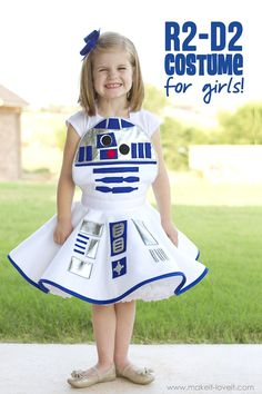 Star Wars R2-D2 Dress Costume FOR GIRLS...for the Star Wars fan who likes to keep it girly! | via Make It and Love It