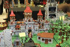 Lego Castle :D!!--Is it bad that the first thing I notice is the Lego quidditch pitch in the background