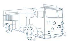 how to draw a firetruck, step by step...