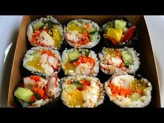 Lobster seaweed rice rolls (Lobster gimbap) recipe - Maangchi.com