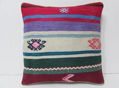 Turkish cushion sofa throw pillow kilim pillow cover decorative pillow case couch outdoor floor bohemian decor boho ethnic rug accent 21874