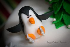 Skating Penguins Cake by AngeliCakes