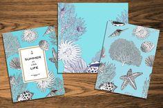 Marine Card Set Vector by golubok's goods on Creative Market
