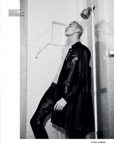 Lucky Blue Smith Dons Fall Coats for GQ Russia Editorial