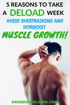 Bodybuilding Read why you need to take a rest week to build more muscle! Deload week for optimal muscle growth. Build Muscle Fast, Gain Muscle, Muscle Training, Training Tips, Love Handle Workout, Workout Plan For Women, Muscle Building Workouts, Fat Burning Workout, Workout For Beginners