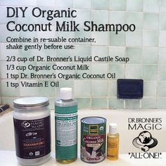 Although our Castile or Shikakai Soaps + Citrus Conditioning Rinse are a great regimen for many hair types, this DIY Organic Coconut Milk Shampoo is a great moisturizing formula for those that have drier hair. Coconut Milk Shampoo, Organic Coconut Milk, Coconut Oil, Coconut Milk Hair, Lemy Beauty, Homemade Beauty Products, Diy Hair Products, Beauty Recipe, Home Made Soap
