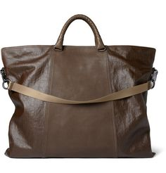 Bottega VenetaCoated-Linen and Leather Tote Bag