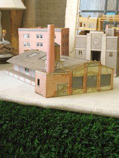 Train bâtiment, Architecture, Antique, Train, modélisme, Architectural jouet, jouet de construction, Train jouet, Architecture, bâtiment