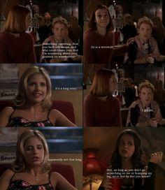 Willow, Oz, Buffy, and Faith from Buffy the Vampire Slayer.