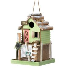 Zingz & Thingz Love Nest Hanging 11 in x 7 in x 7 in Birdhouse