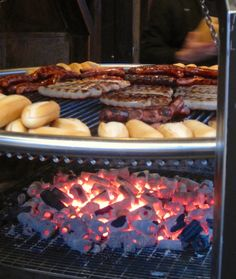 Edible Reasons to go to Christmas Markets: Bratwurst over coals