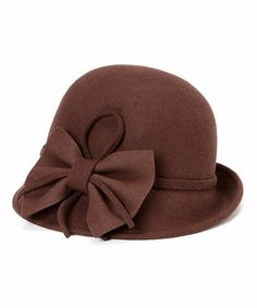 Another great find on #zulily! Chocolate Bow Wool Cloche by Jeanne Simmons Accessories #zulilyfinds