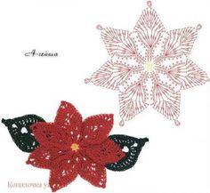 Patron para hacer una flor de noche buena a crochet11