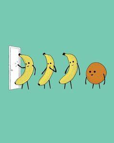 Knock knock who's there banana (repeats twice) knock knock, who's there orange, orange who, orange you glad I didn't say banana!