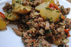 Ground Turkey with Potatoes, Tomatoes, Mint & Parsley - My Halal Kitchen | Inspiration for Wholesome Living - with Yvonne Maffei
