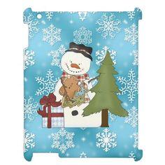 Christmas Snowman iPad 2/3/4 Savvy Glossy case iPad Cases