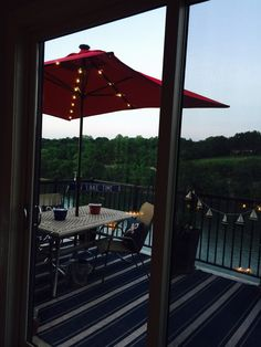 Food tastes Better on balcony over # LakeTaneycomo @Dusk #landinlifestyle💕💘💗💞💓