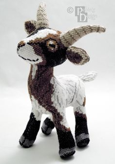 Groat the Goat 3D Cross Stitch Animal Doll and Sewing Pattern PDF