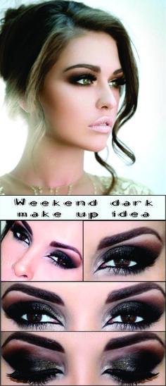 Weekend Dark Make Up Idea