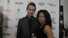 Brandon Monokian and I after our interview at Nolcha Fashion Week