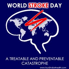Recognize World Stroke Day - Because You Care! World Stroke Day raises people's awareness on stroke and what can be done to combat it. It is observed on October 29 each year. World Stroke Day, Moyamoya Disease, Tourism India, Medical Specialties, Peripheral Nerve, Medical Problems, Weight Loss Transformation, October 29, Surgery