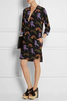 Stella McCartney|Printed silk mini dress|NET-A-PORTER.COM