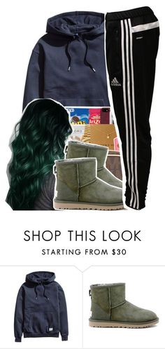 Untitled #387 by xotwodmayne on Polyvore featuring H&M, adidas, UGG Australia, women's clothing, women's fashion, women, female, woman, misses and juniors