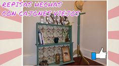 REPISAS VINTAGE HECHAS DE CAJONES VIEJOS / TURNING OLD DRAWERS INTO DECO... Old Drawers, Gallery Wall, Shelves, Frame, Vintage, Home Decor, Decorative Shelves, Wood, Shelving Brackets