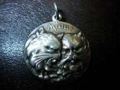 Miau Wunderschöner Katzen Anhänger 830 Silber | eBay