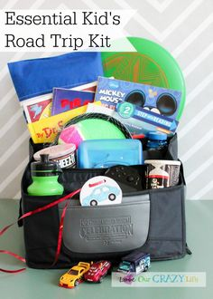 """Make the essential kid's road trip kit, plus lots of little tips for storage and stopping the """"are we there yet"""" question."""