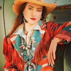 Another ad from Cowboys and Indians Magazine from the past, Tasha Polizzi jacket, Pawn Jewelry .check out the truck !