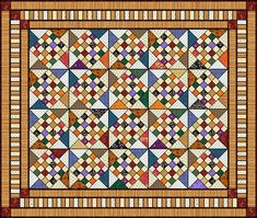 playing checkers quilt pattern - 498×421
