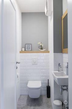 Space Saving Toilet Design for Small Bathroom - Home to Z toilettes Half Bathroom Decor, Bathroom Design Small, Bathroom Styling, Bathroom Interior Design, Modern Bathroom, Bathroom Ideas, Half Bathrooms, Small Toilet Design, Cloakroom Ideas