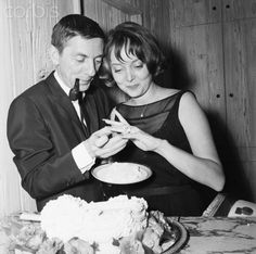 Actress Carolyn Jones and Husband Aaron Spelling- they married in 1953 and divorced in 1964 right before she started on The Addams Family TV show. I'm sure you all know who Aaron Spelling is.