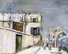 Cercle Catholique du Sacre-Coeur Artwork by Maurice Utrillo Hand-painted and Art Prints on canvas for sale,you can custom the size and frame