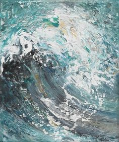 Maggi Hambling - Splintering Wave, 2009, oil on canvas