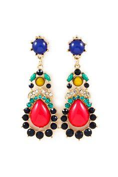 Lamire Chandelier Earrings on Emma Stine Limited