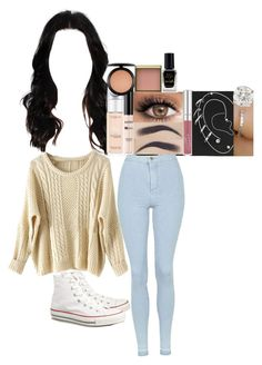 """""""Anchors / teen wolf"""" by fuckmeirwin ❤ liked on Polyvore featuring L'Oréal Paris, NYX, MAC Cosmetics, Benefit, Barry M, Topshop and Converse"""