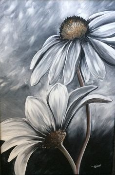 Black and White - Acrylic Painting by Trish Jones