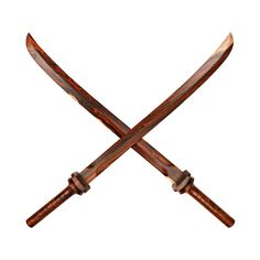 Wooden Samurai Sword -- These one of a kind wooden swords are handmade from reclaimed Rosewood.