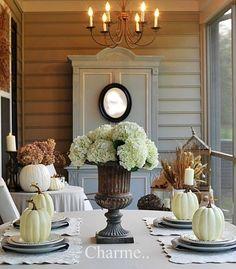 Autumn ~ Table Inspiration #decor #interiors