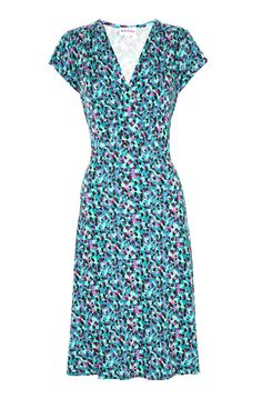 Liberty Print Empire Dress - Women's Dresses | Brora