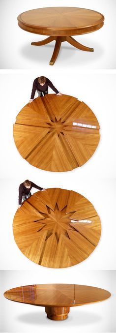 Expandable round table More