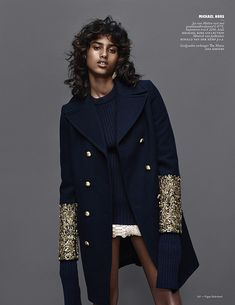 Imaan Hammam by Marc de Groot for Vogue Netherlands September 2015 - Page 2 | The Fashionography