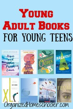 This list of young adult books is a great reading list for young teens. It makes a great homeschool reading list for middle school and high school. adult books Young Adult Books for Young Teens ~ The Organized Homeschooler Best Books For Teens, Audio Books For Kids, Books For Boys, Books For Teen Boys, Middle School Books, High School Reading, Book Suggestions, Book Recommendations, Book Girl
