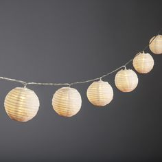 Ara Blush Ombre Lantern String Lights, Strand of 10 String Lights In The Bedroom, Lantern String Lights, Indoor String Lights, White Led Lights, Ball Lights, Lanterns, Boho Lighting, Strip Lighting, Lighting Ideas
